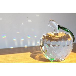サンキャッチャー クリスタル ガラス りんご 置物 インテリア 林檎 50 mm (クリア) mapletreehouse