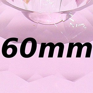サンキャッチャー クリスタル ガラス りんご 置物 インテリア 林檎 60 mm (ピンク) mapletreehouse