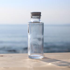 ハーバリウム 用 丸瓶 100ml 1本 選べるキャップ付き(ゴールド・シルバー・ピンクゴールド)空ビン ボトル(キット オイル用 植物標本 花材用)