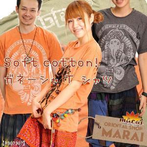 半袖Tシャツ メンズ レディース Soft cotton ガネーシャTシャツ【選べる福袋対象T】|marai