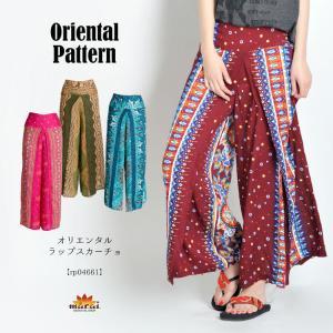 ワイドパンツ レディース メンズ 夏 柄 ハイウエスト 大きいサイズ エスニック アジアン ファッション メール便送料無料|marai