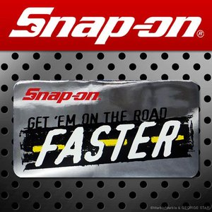 Snap-on スナップオン アメリカンステッカー GET 'EM ON THE ROAD FASTER 鏡面 020 アメリカン雑貨|marblemarble