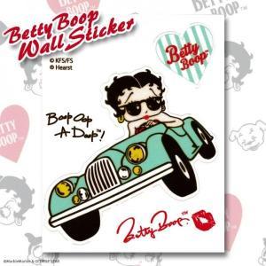 ベティちゃん ベティ・ブープ ウォールステッカー #007 オープンカー // インテリアステッカー / Betty Boop / 壁ステッカー / メール便可|marblemarble