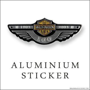 アルミ ステッカー H-D シルバー カスタム シール // アメリカン雑貨 / メール便可|marblemarble