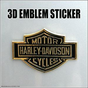 3D エンブレム ステッカー H-D ゴールド // カスタム オモシロ雑貨 アメリカン雑貨 並行輸入品 メール便可|marblemarble