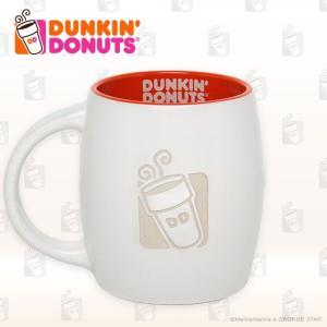 DUNKIN' DONUTS ダンキンドーナツ レリーフ ロゴ 樽型マグ 14オンス ライセンス品 平行輸入品 あす楽|marblemarble