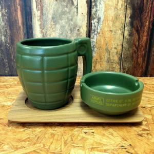 コーヒー&シガレット マグ&灰皿セット ARMY // ミリタリー 喫煙具 アメリカン marblemarble