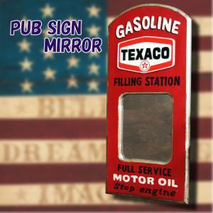 アメリカ雑貨 アメリカン雑貨 PUB SIGN MIRROR パブサインミラー TEXACO テキサコ|marblemarble