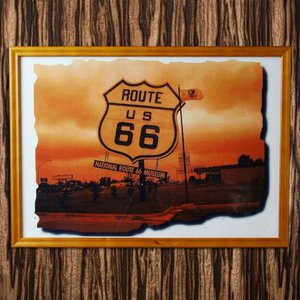 フレーム付きミニポスター NATIONAI ROUTE66 MUSEUM|marblemarble