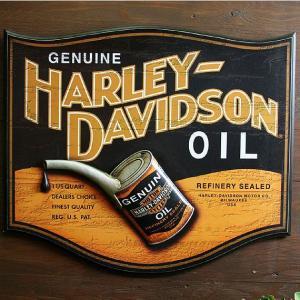 HARLEY-DAVIDSON ハーレーダビッドソン ウッド製パブサイン 看板 オイル缶デザイン|marblemarble