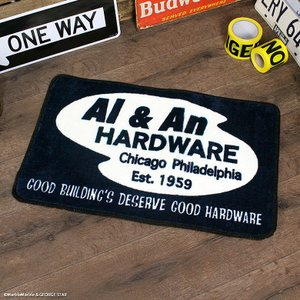 CultureMart フロアマット Al & An HARDWARE // フロアーマット 玄関マット トイレマット アメリカン インテリア|marblemarble