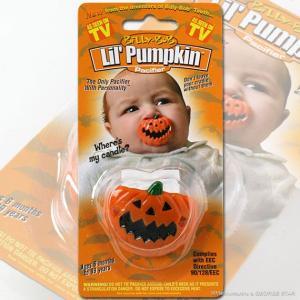 ビリー・ボブ 面白おしゃぶり ヌーク型 Lil' Pumpkin / ジャコランタン カボチャ // アメリカン雑貨 / プレゼント / 出産祝い / ベビー用品 / おもしろグッズ|marblemarble