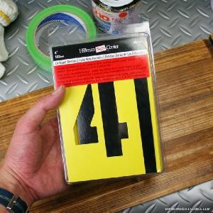 ステンシルプレート オイルコート紙 4インチ アルファベット 数字 記号 入り // ペーパーステンシル / 世田谷ベース / 英字 / アメリカ製 / HANSON|marblemarble|02