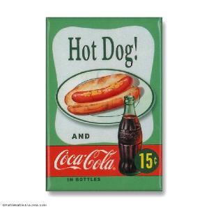 Ice Box マグネット 磁石 #001 COKE Hot Dog // インテリア雑貨 / コカコーラ / アメリカ雑貨 / MADE IN USA|marblemarble