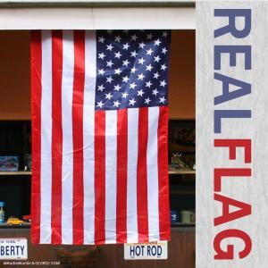 リアル・フラッグ #001 アメリカ 星条旗 ポリエステル製 // アメリカン雑貨 / ガレージ / インテリア / メール便可|marblemarble
