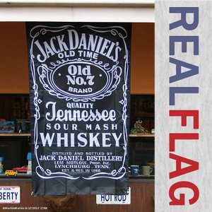 リアル・フラッグ #008 JACK DANIEL'S ジャックダニエル ポリエステル製 // アメリカン雑貨 / ガレージ / インテリア / メール便可|marblemarble
