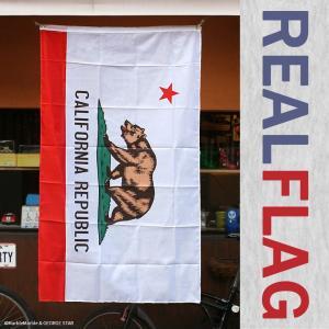 リアル・フラッグ 旗 ポリエステル製 カリフォルニア州旗 CALIFORNIA REPUBLIC [ アメリカン雑貨 ガレージ インテリア メール便対応 ]