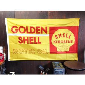 リアル・フラッグ 旗 ポリエステル製 シェル オイル SHELL OIL [ アメリカン雑貨 / ガレージ / インテリア / メール便対応 ]
