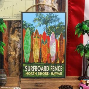 ハワイアン ウッドプラーク #003 Surfboard Fence // SURF / BEACH / 海 / アメリカン雑貨|marblemarble