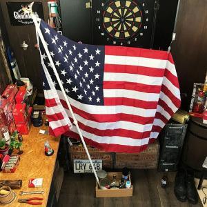 星条旗 ポール付き USA フラッグ // 旗 棒付き アメリカン雑貨|marblemarble