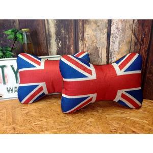 国旗柄ネッククッション イギリス 2個セット // 車 インテリア アメリカン雑貨|marblemarble