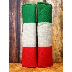 国旗柄シートベルトカバー イタリア 2個セット // 車 インテリア アメリカン雑貨|marblemarble