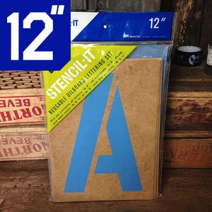duro ステンシル セット オイルボード 12インチ // ビッグ DIY 世田谷ベース 紙 アメリカン雑貨|marblemarble