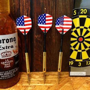 ハードダーツ 3本セット 星条旗 USAフラッグ // ブラスバレル 面白い押しピン アメリカン雑貨|marblemarble