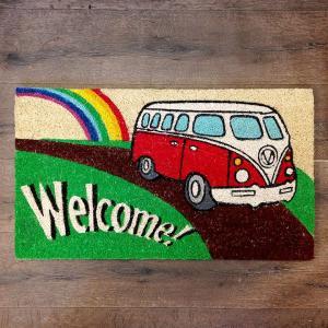 ココマット ハワイアン VW レッドバス // コイヤーマット 玄関マット ハワイアン|marblemarble