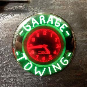 フリッジ マグネット 磁石 #002 ネオンクロック GARAGE TOWING // アメリカン雑貨 並行輸入品 メール便可|marblemarble