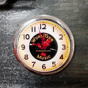 フリッジ マグネット 磁石 #007 ネオンクロック WURLITZER MUSIC // アメリカン雑貨 並行輸入品 メール便可|marblemarble