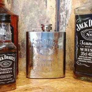 Jack Daniels スキットル フラスコボトル 3oz // ジャックダニエル ウィスキー ボトル アメリカン雑貨|marblemarble