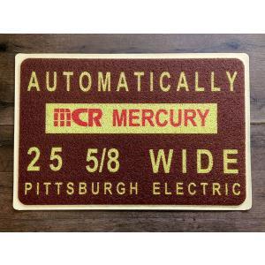 MERCURY PVC ガレージマット L ブラウン // 玄関マット フロアマット アメリカン雑貨|marblemarble
