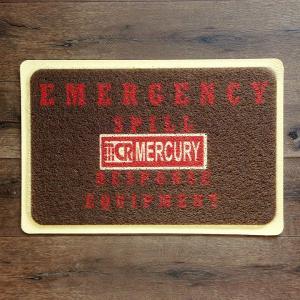 MERCURY PVC ガレージマット S ダークブラウン // 玄関マット フロアマット アメリカン雑貨|marblemarble