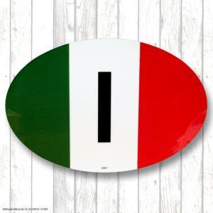 カー マグネット 国旗 オーバル #002 イタリア [ 車 カスタム メール便可 ]|marblemarble