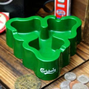 アメリカ雑貨 PLASTIC ASHTRAY プラスチック灰皿 CARLSBERG カールスバーグ グリーン marblemarble