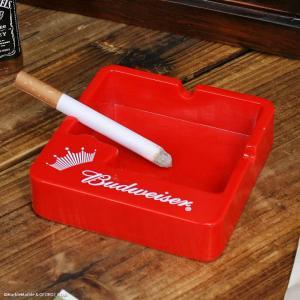 ノベルティ灰皿 Budweiser バドワイザー プラスチック製アッシュトレイ // アメリカン雑貨 / 喫煙具 / ノベルティグッズ marblemarble