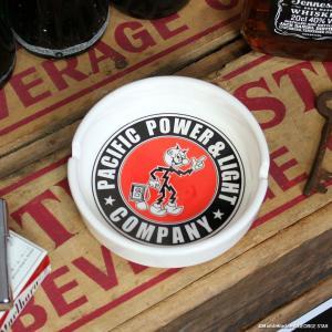 ラウンド アッシュトレイ レディキロワット // アラバマ電力 トレイ 小物入れ 陶器 男性 アメリカン雑貨|marblemarble