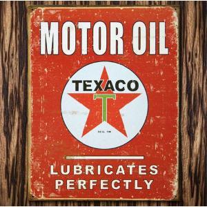 ブリキ看板 TINサイン TEXACO OIL テキサコオイル marblemarble