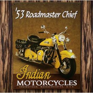 ブリキ看板 TINサイン Indian インディアン '1953ROAD MASSTER アメリカン雑貨 アメリカ雑貨 marblemarble