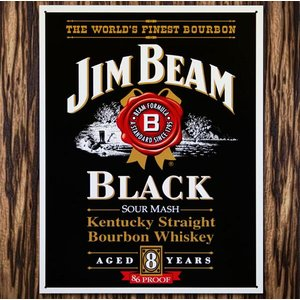 C3 ブリキ看板 JIM BEAM ジン・ビーム ブラックラベル