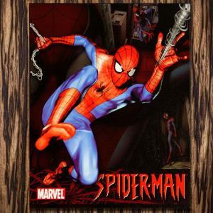 ブリキ看板 TINサイン MARVEL SPIDER MAN スパイダーマン アメリカン雑貨 アメリカ雑貨 marblemarble