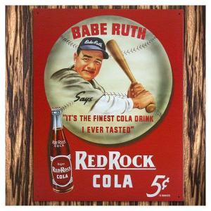 ブリキ看板 REDROCK COLA BABE RUTH バッター&ボール marblemarble