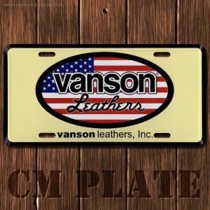 ナンバープレート型CMプレート #181 / VANSON(バンソン)2 // アメリカ雑貨 / インテリア雑貨 / ガレージ雑貨 / メール便対応|marblemarble