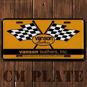 ナンバープレート型CMプレート #182 / VANSON(バンソン)3 // アメリカ雑貨 / インテリア雑貨 / ガレージ雑貨 / メール便対応|marblemarble