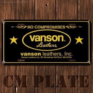 ナンバープレート型CMプレート #183 / VANSON(バンソン)4 // アメリカ雑貨 / インテリア雑貨 / ガレージ雑貨 / メール便対応|marblemarble