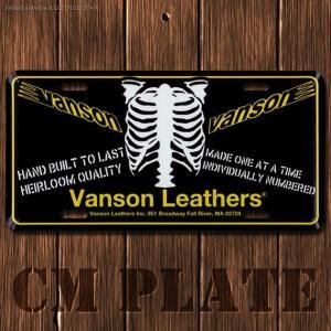 ナンバープレート型CMプレート #185 / VANSON(バンソン)6 // アメリカ雑貨 / インテリア雑貨 / ガレージ雑貨 / メール便対応|marblemarble