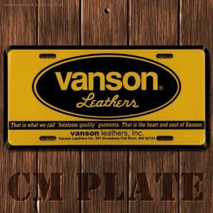ナンバープレート型CMプレート #186 / VANSON(バンソン)7 // アメリカ雑貨 / インテリア雑貨 / ガレージ雑貨 / メール便対応|marblemarble