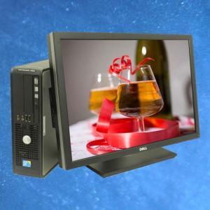 DELL Optiplex 780 SFF23インチワイド液晶モニター付き 中古デスクトップパソコン KingSoft Officeインストール済み メモリ4GB HDD250GB DVDマルチ搭載