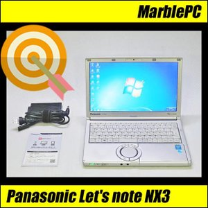 中古ノートパソコン Windows 7 Panasonic CF-NX3EDHCS Core i5-4300U 1.90GHz 送料無料|marblepc